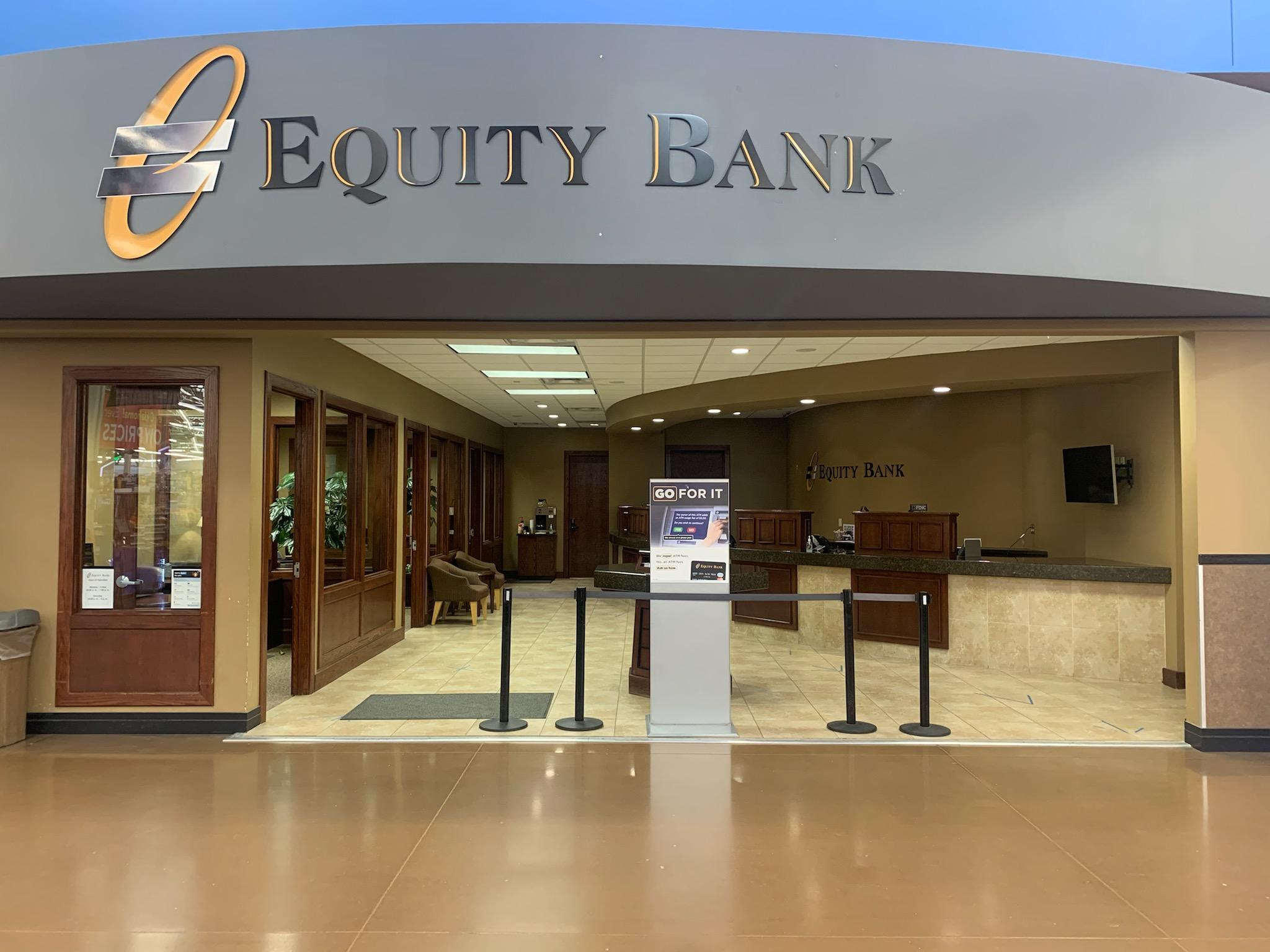 Equity Bank Guymon Walmart branch exterior.