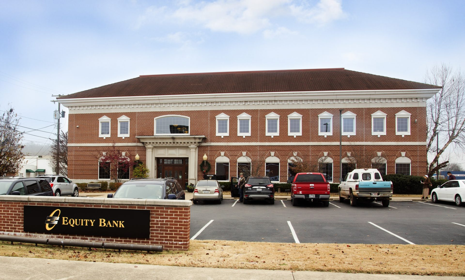 Equity Bank Harris Downtown branch exterior.