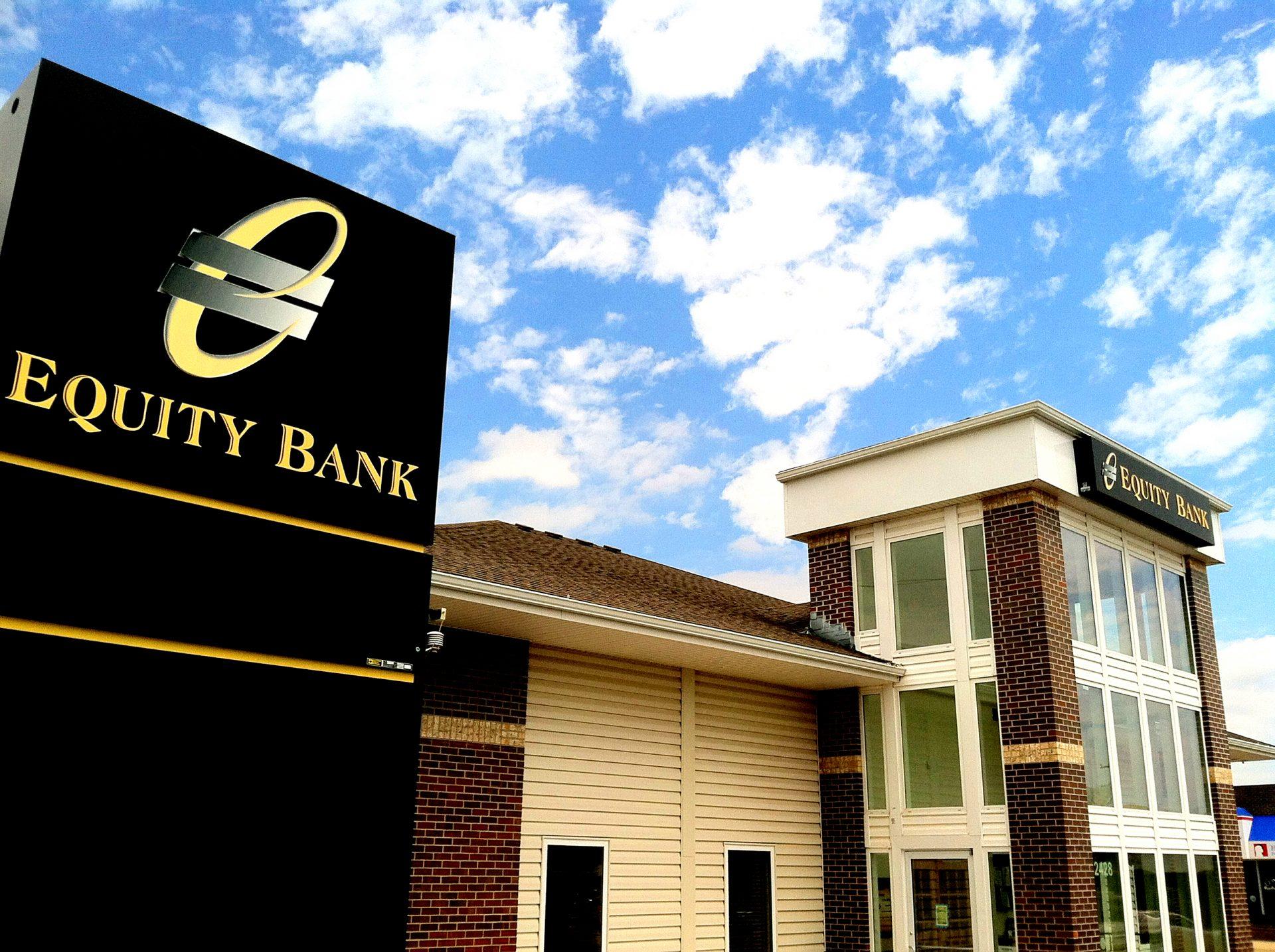 Equity Bank Hays branch exterior.