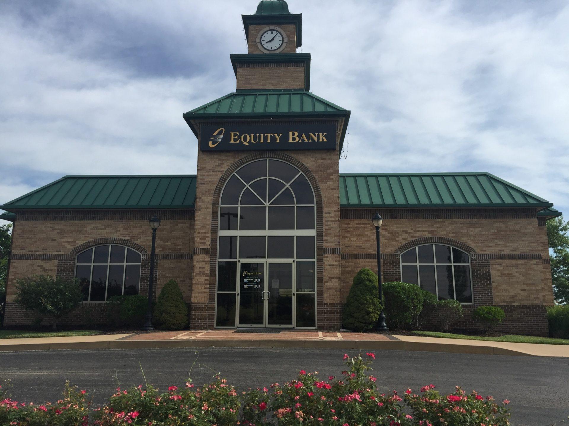 Equity Bank Higginsville branch exterior.