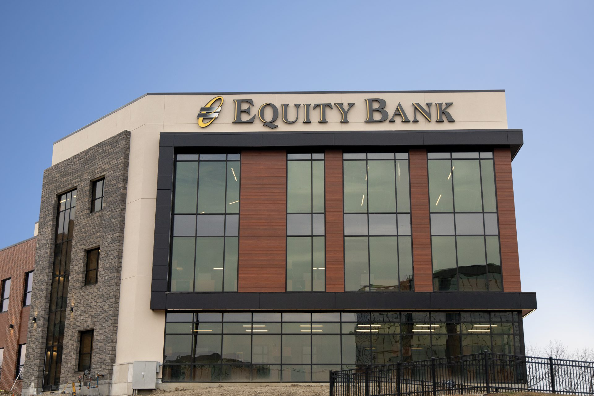 Equity Bank Overland Park branch exterior.