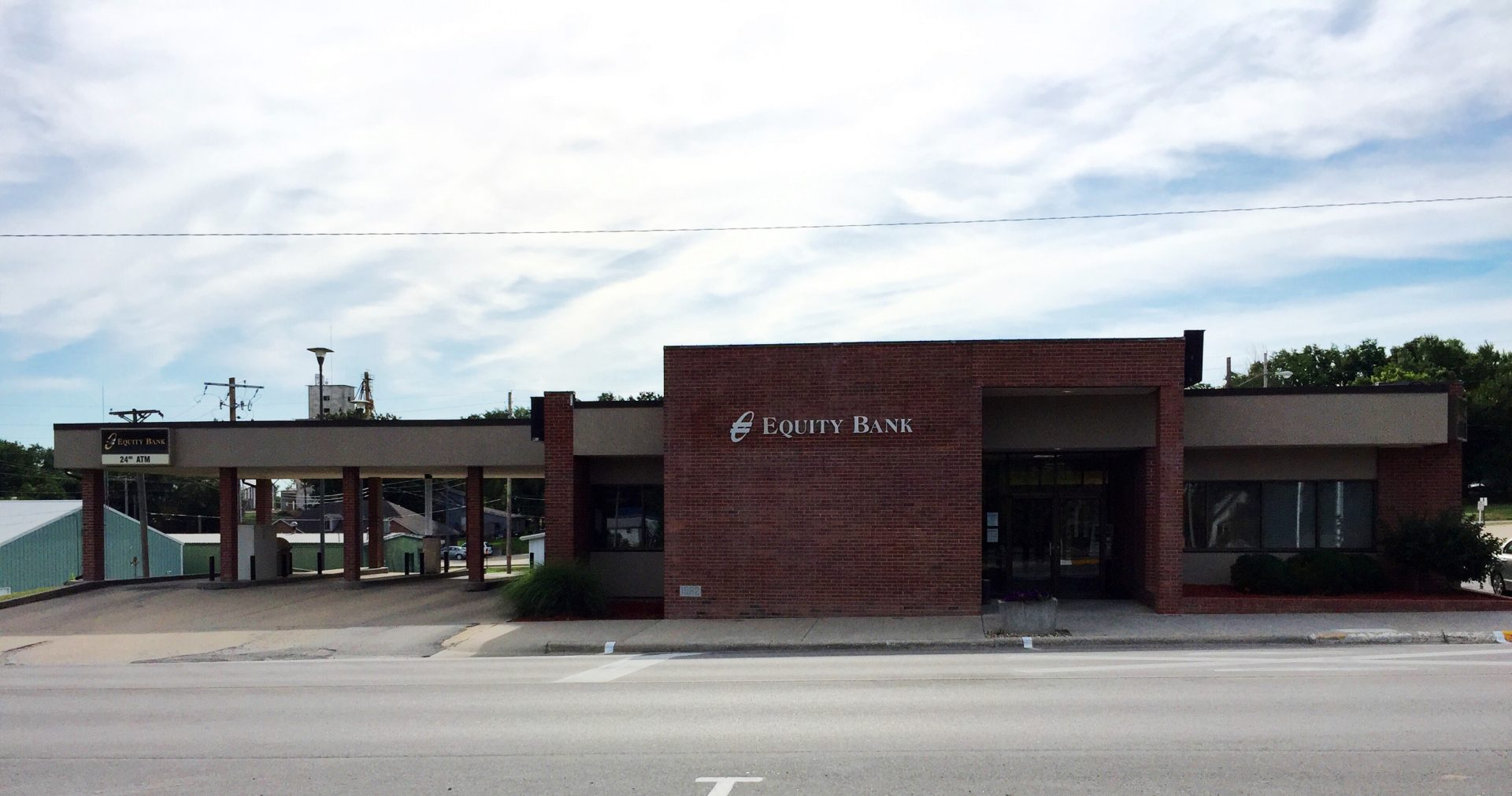 Equity Bank Knob Noster branch exterior.