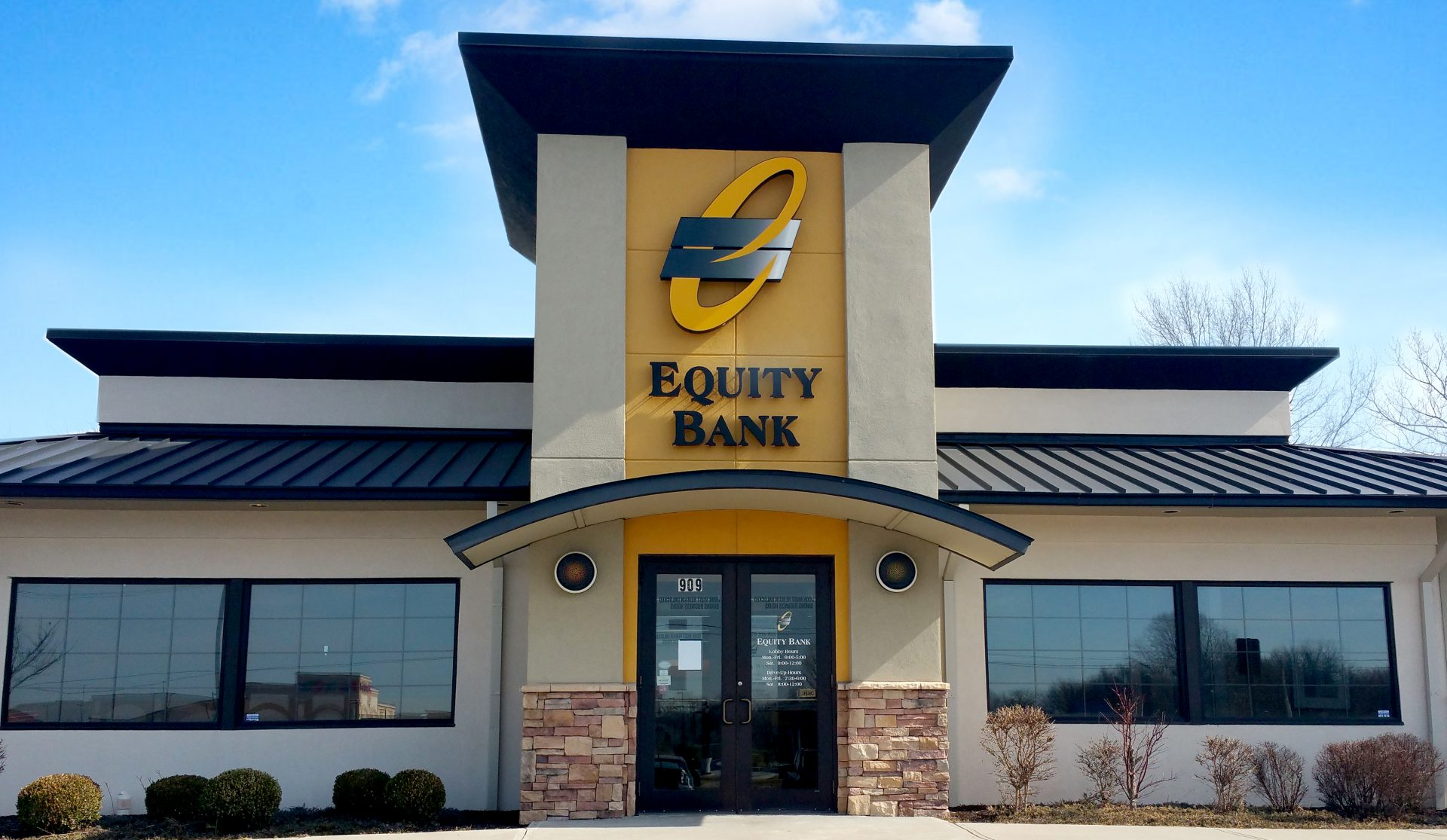 Equity Bank Lee's Summit North branch exterior.