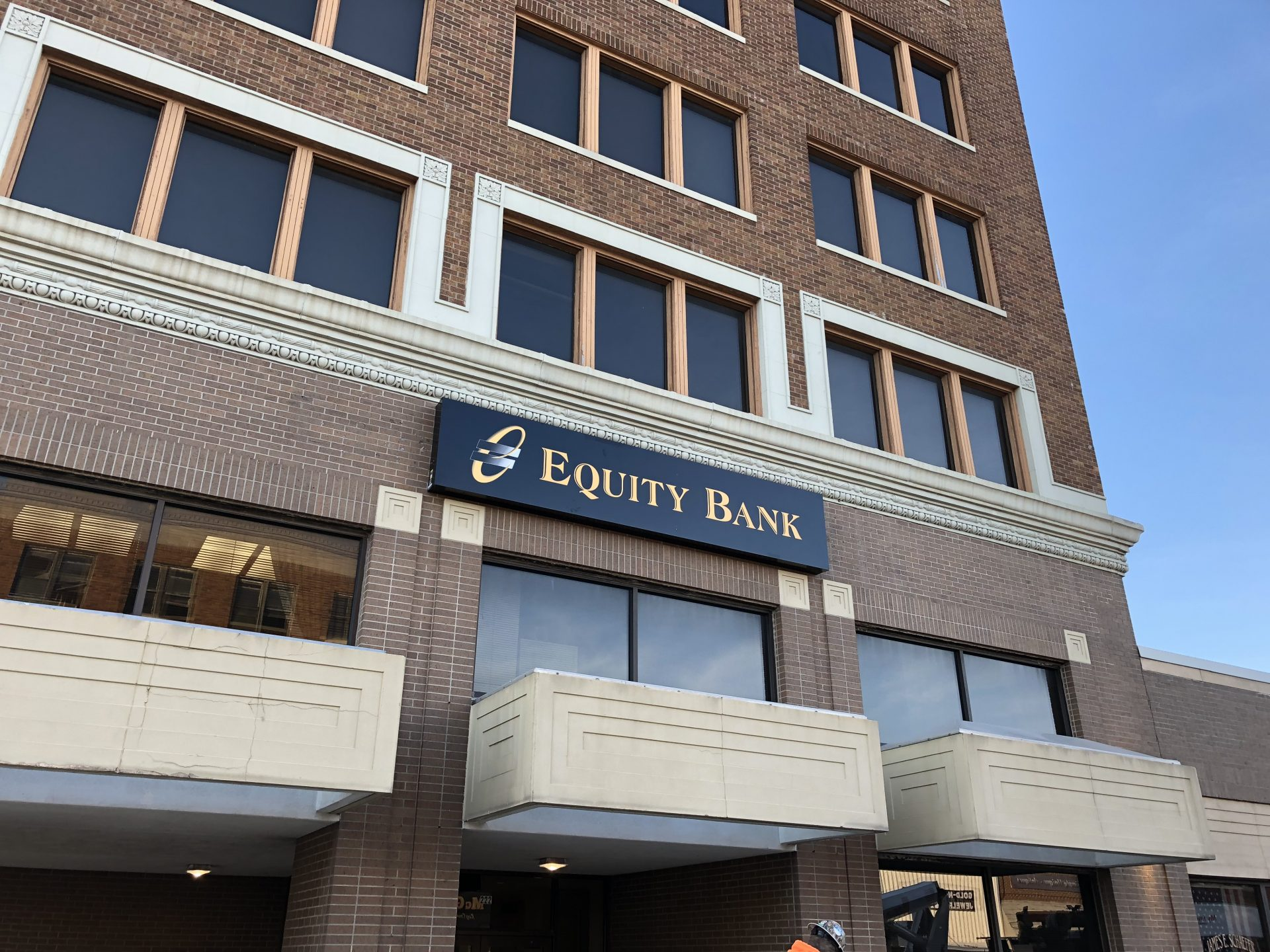 Equity Bank Ponca City Downtown branch exterior.