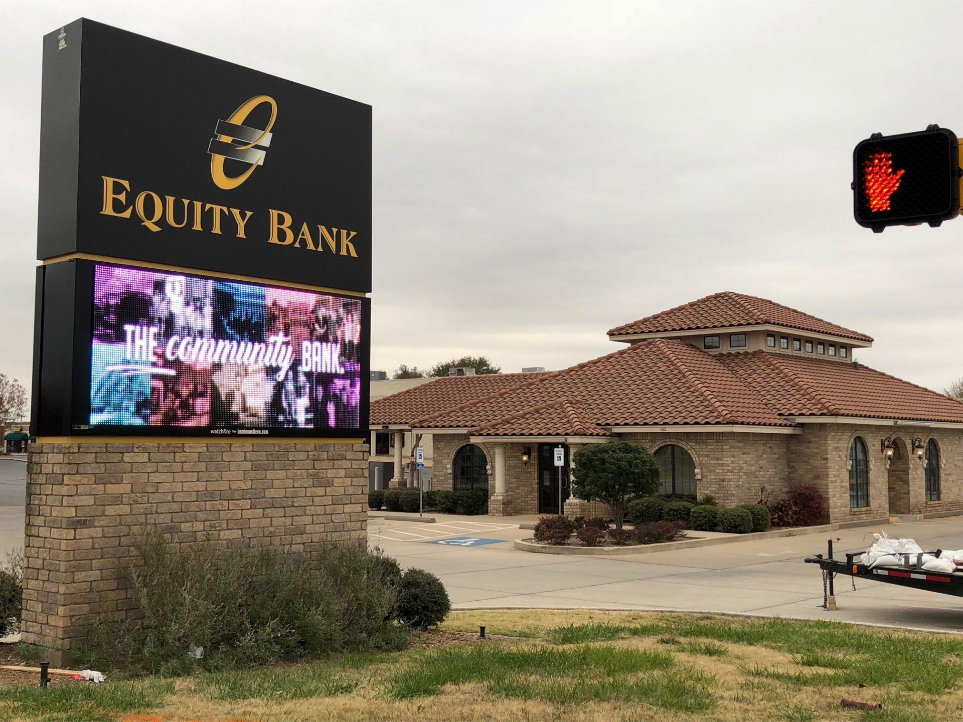 Equity Bank Ponca City North Park branch exterior.