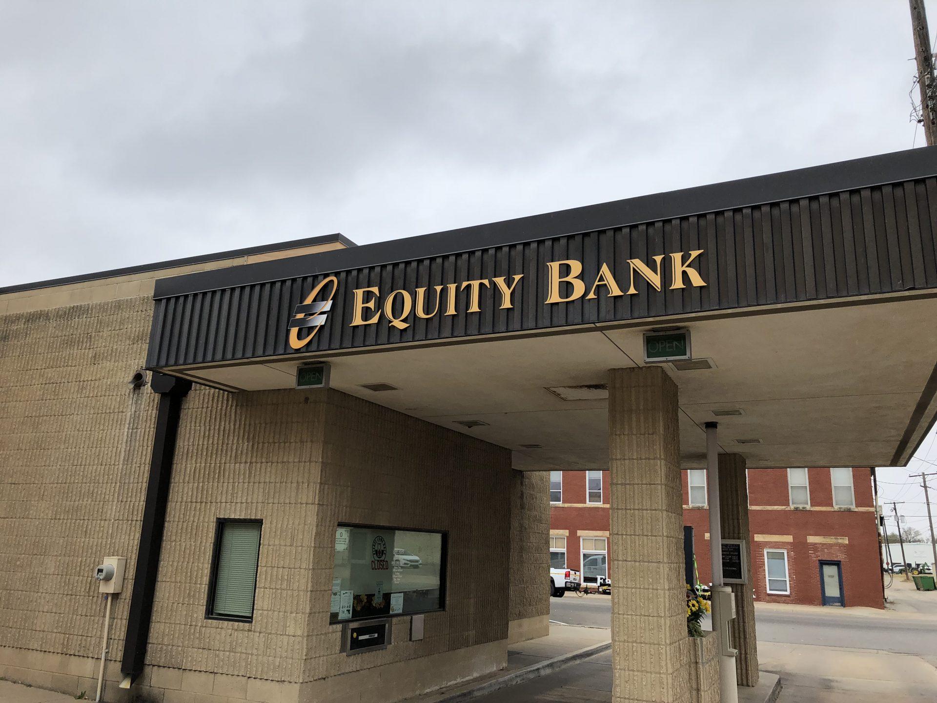 Equity Bank Ponca City Plaza branch exterior.