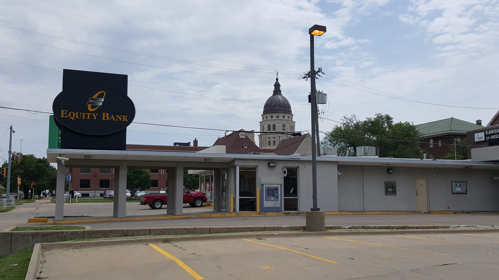 Equity Bank Topeka 8th branch exterior.