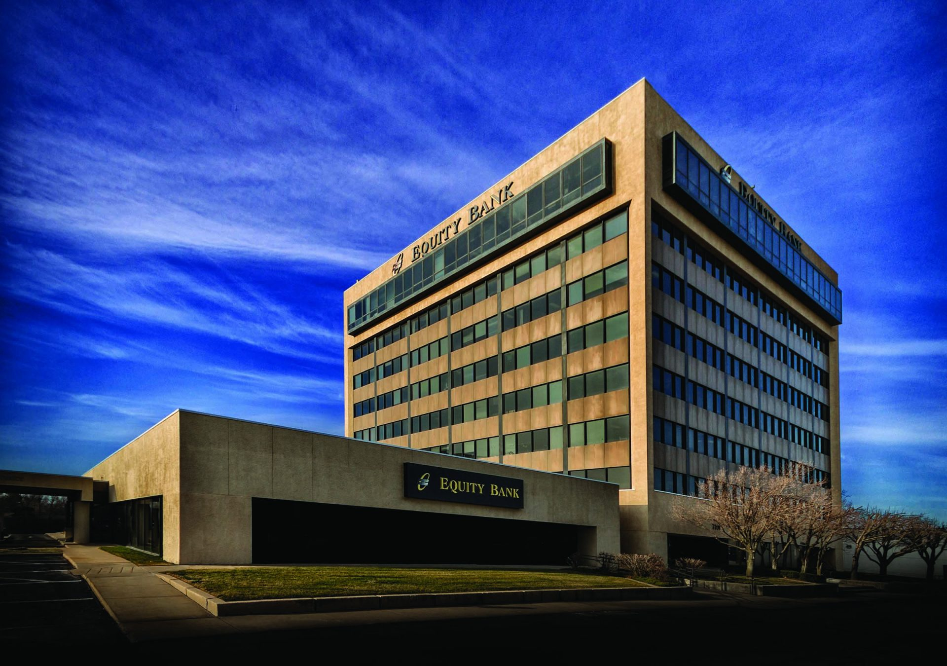 Equity Bank Wichita Rock Road branch exterior.