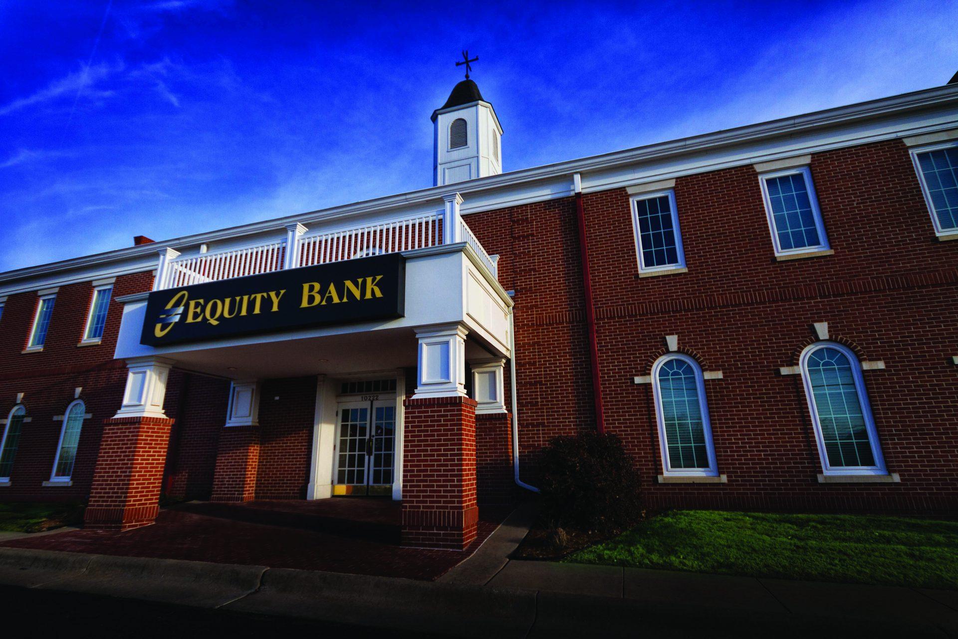 Equity Bank Wichita West branch exterior.