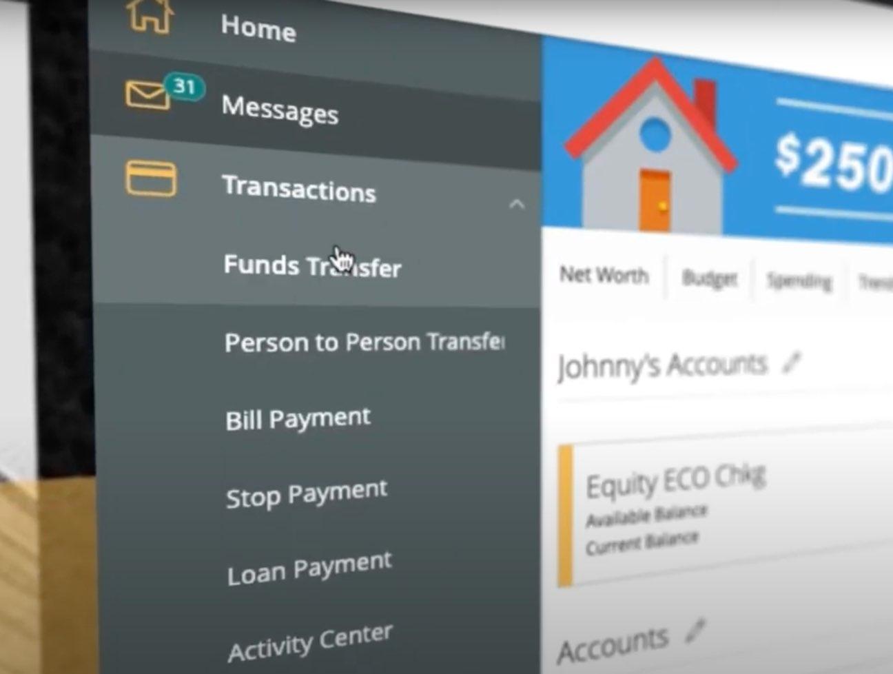 Screenshot of the Equity Bank digital banking app