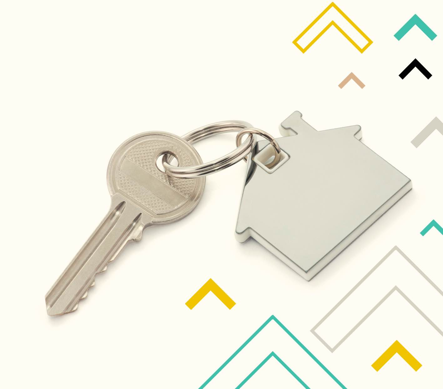 key with key chain of a house