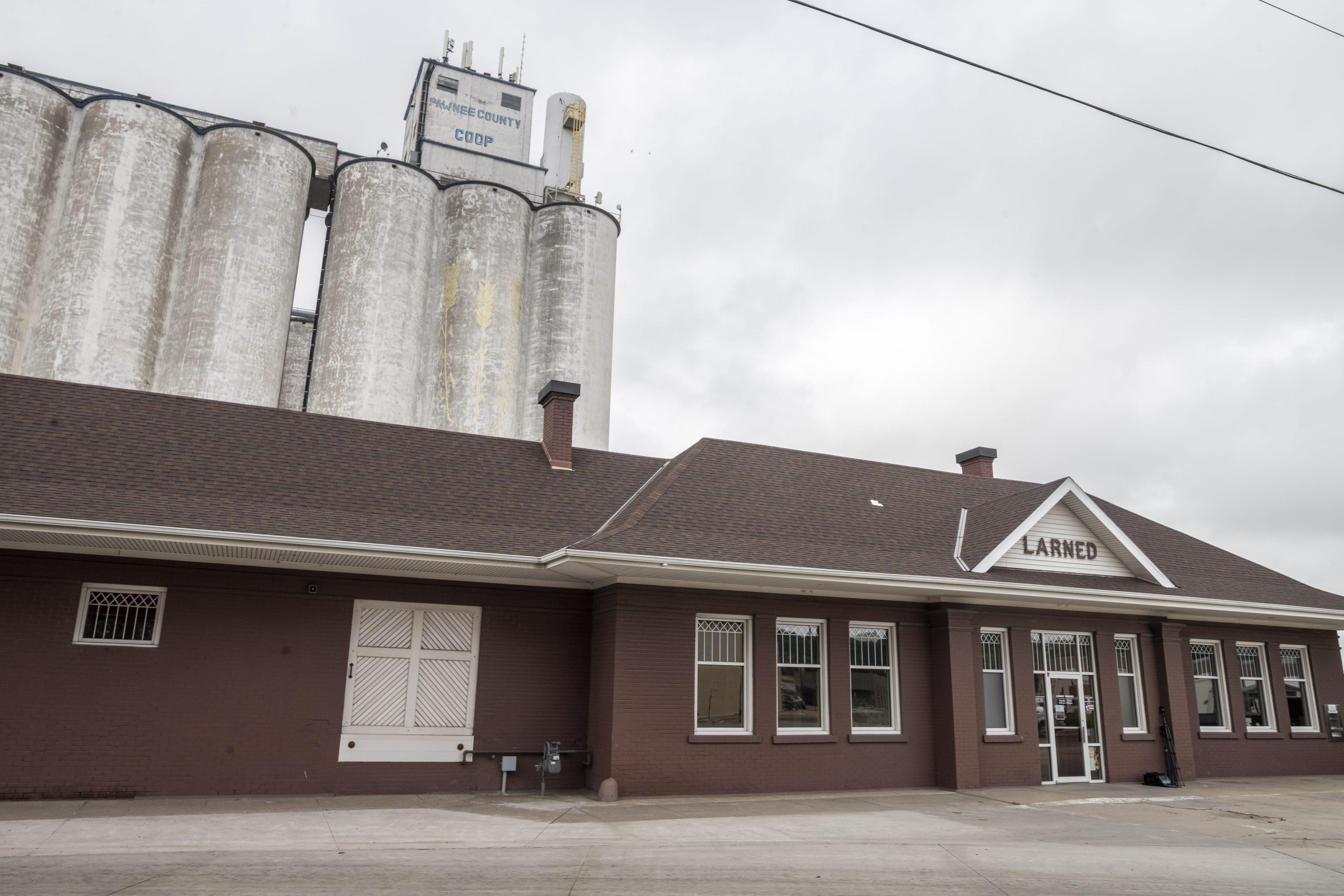Atchison Topeka and Santa Fe Railway Company depot, Larned, Kansas