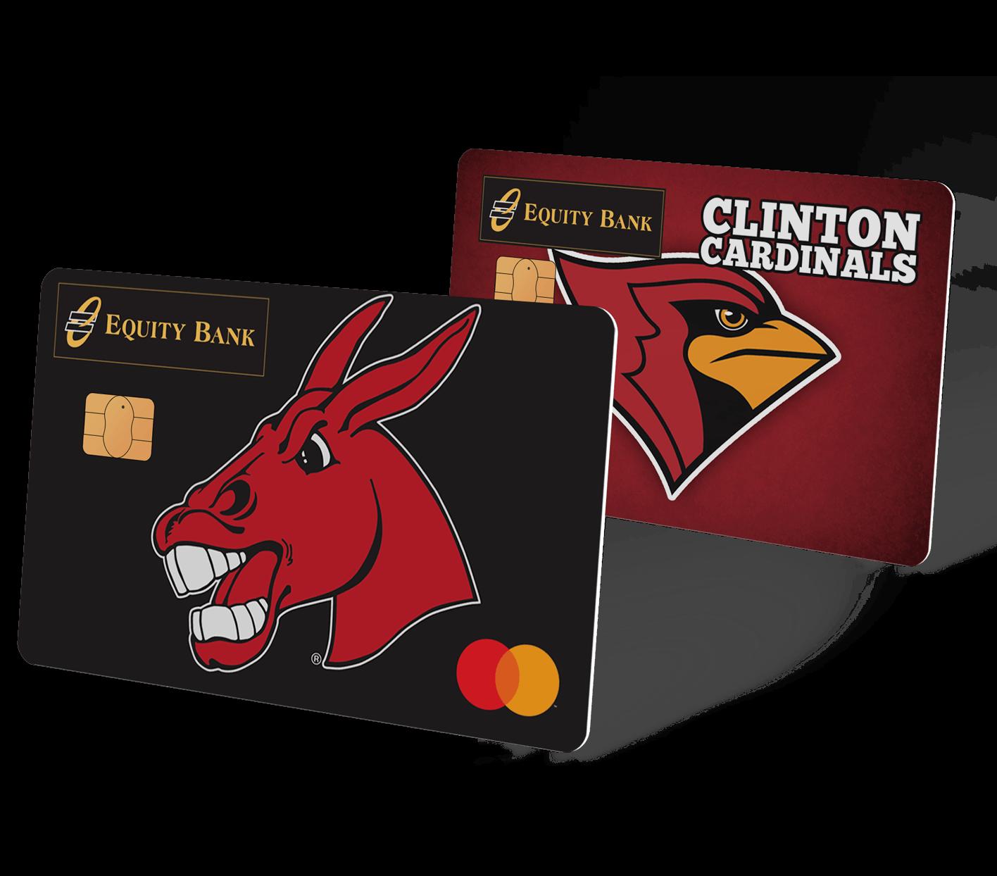 Two custom debit card designs